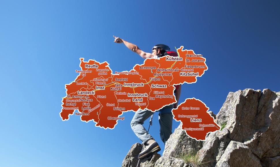 Auswahl Aus Der Tirol Karte Urlaub In Tirol Achensee Pitztal